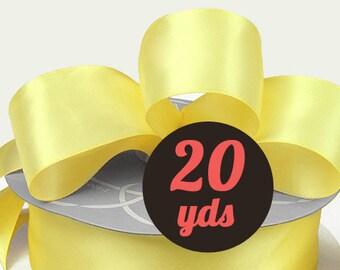 "Satin Canary Yellow Ribbon - 7/8"" wide at 20 yards"