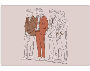 Gotta Whole Lot of History Sticker One Direction Harry Styles Louis Tomlinson Niall Horan Liam Payne Art Drawing Illustration Stationery