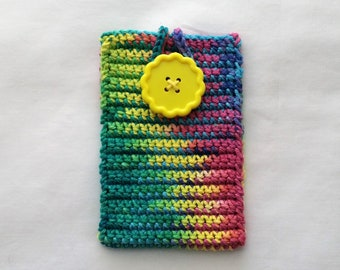 Crochet Phone Caddie, Phone Cozy, Phone Sleeve, Crochet Mobile Phone Cover, Smart Phone Case, iPhone Cover, Samsung Phone Cover(multi color)