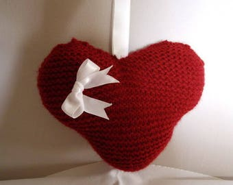Valentine Heart - knitting tutorial - how to knit a heart