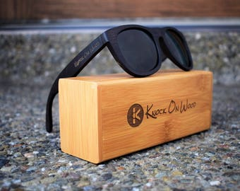 Vantablack Wood - Polarized Bamboo Sunglasses for Men and Women