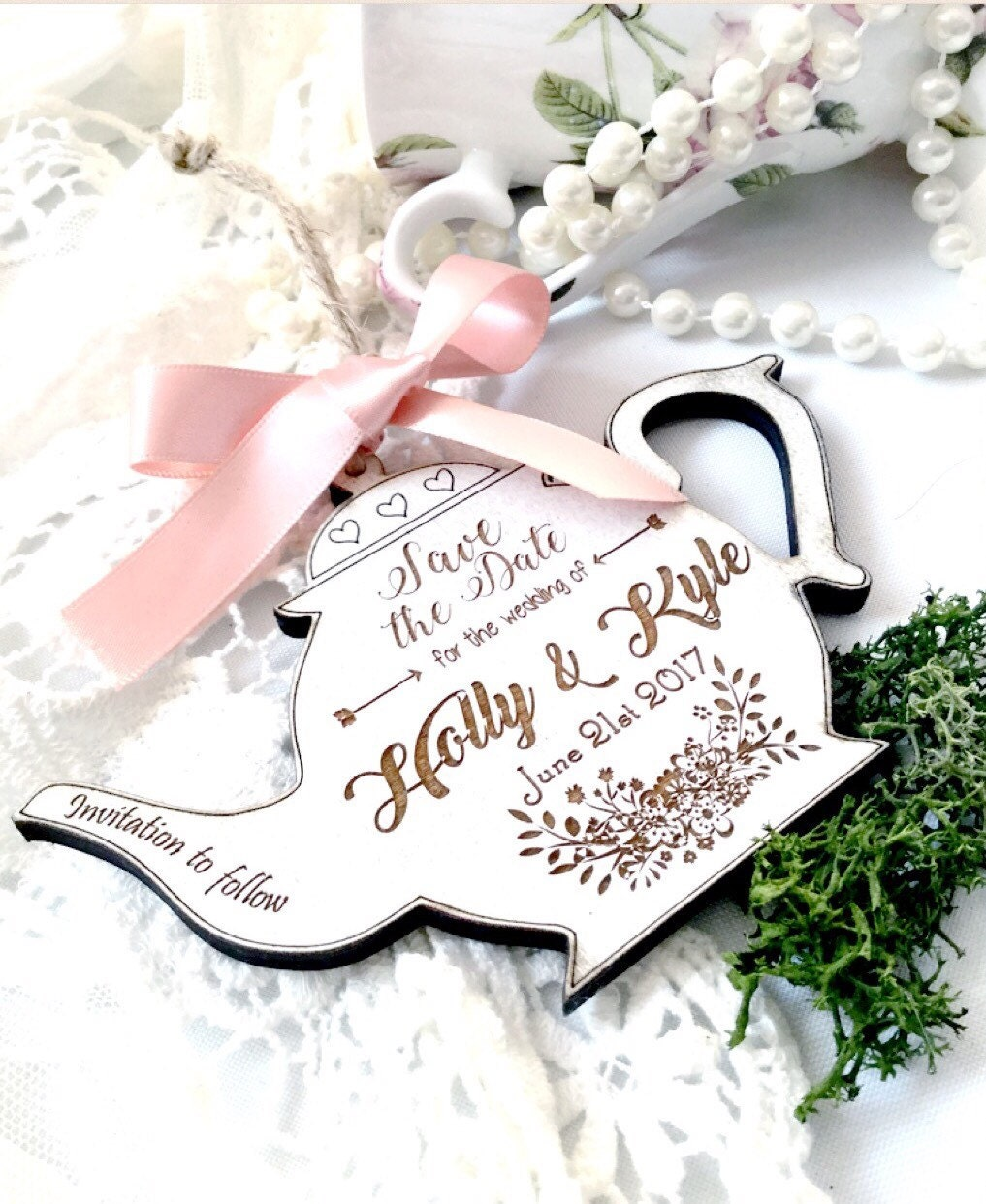 Save the date, Vintage wedding save the date , Shabby chic wedding ...
