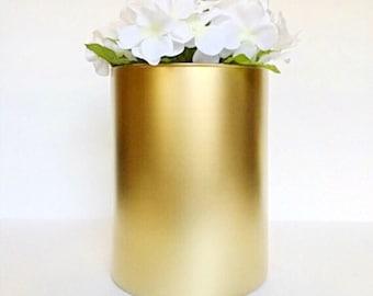 Wide Flower Vase, Wedding Centerpiece, Candle Holder, Baby Shower Decor, Baptism Decor.
