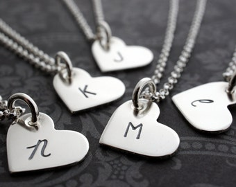 Daughter's Heart Necklace Add-On - Personalized Three Generation Necklace Set in Sterling Silver - Grandmother, Daughter, Granddaughter