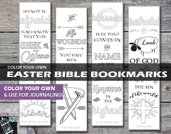 Easter bible bookmarks easter basket gift tag bible negle Image collections
