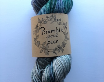 Hand Dyed Worsted Weight Yarn, Superwash Merino Wool - Juniper (Dyed to order)