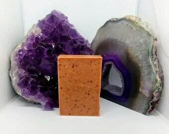 Natural Soap, Red Clay Soap, Handmade Soap, Glycerin Soap, Vegan Soap, Peppermint, Palmarosa, Soap for Oily Skin, Detox, Aromatherapy, Soap