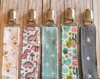 Dummy Clip - Universal Pacifier Clip for Girls - Paci Clip - Pacifier Clip - Baby Shower Gift - Baby Toy Clip - Baby Easter Basket