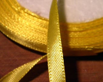 22 M 6 mm - reel - SA6 - bright yellow satin ribbon