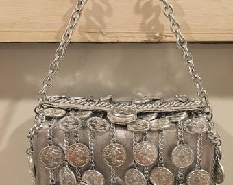 Walborg I. Magnin Silver Coin/Chain Handbag