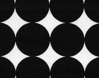 Michael Miller Disco Dot in Ink, Black White, Circles, Polka Dot - FAT QUARTER Clearance