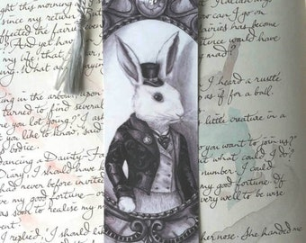 Bookmark Alice In Wonderland White Rabbit
