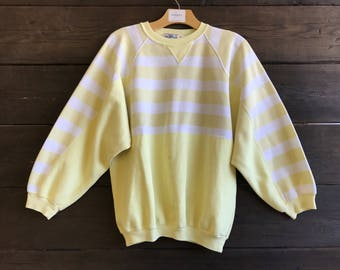 Vintage 80s Striped Sweatshirt