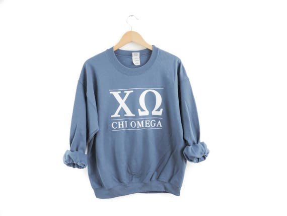 New Chi Omega Maroon Stripe Crewneck Sweatshirt // Size S-3XL // You Pick Color