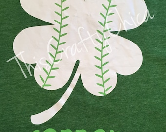 St. Patrick's Day Baseball Shamrock personalized  short sleeve tshirt * St Patricks Day * Irish * St. Patty's