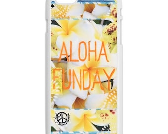 iPhone 6s/6, iPhone 6s/6 Plus Case, ALOHA FUNDAY, iPhone 6s Plus, Hawaii, Tropical, Aloha, Plumeria, Avail. with Black or White case color