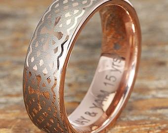 Tungsten Rings Custom Engraving Claddagh Rings By