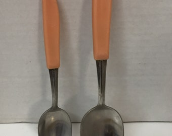 Retro Pink Celluloid Spoons