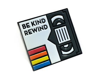 Be Kind & Rewind VHS Tape Pin
