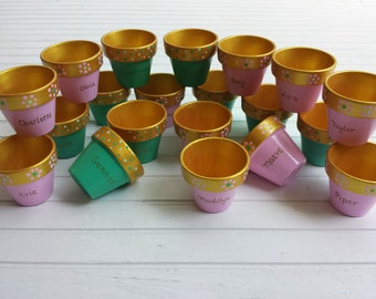 Painted Flower Pots - Kids Party Favors - Tea Party Favors