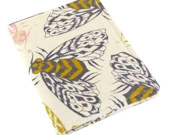 Slim Womens Credit Card Wallet - Cute Bee Fabric