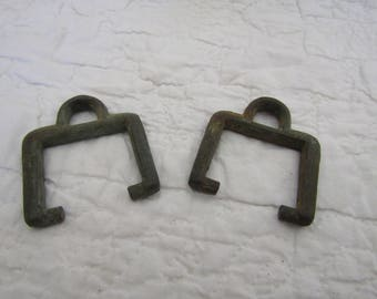 2 Vintage Brass Boat Pieces or Parts Nautical Boat Salvage