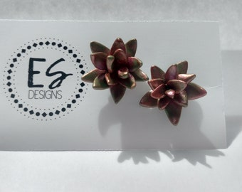 Polymer Clay Succulent Earrings