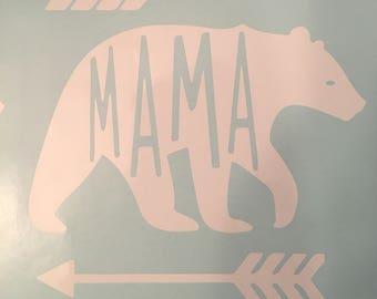 Mama Bear Decal, Window Car Truck Mama Bear Decal