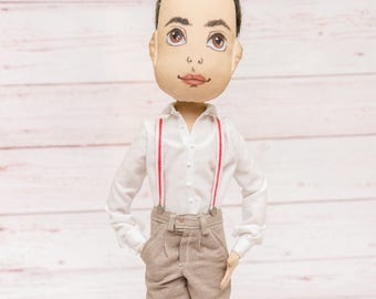 Custom dolls that look like you Custom portrait rag doll Personalized dolls portrait dolls Personalized fabric doll selfie cloth doll gift