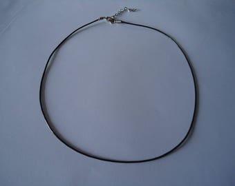 Black faux leather Choker necklace
