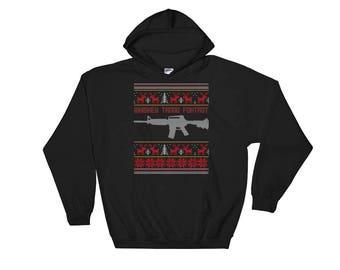 Whiskey Tango Foxtrot Women's Hooded Sweatshirt - Funny Ugly Christmas Sweater Shirts - Christmas Holiday Sweaters - Christmas Eve Attire