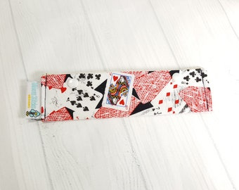 "Playing Cards Short Needle Cozy DPN Holder, project holder 7""x2""- (Hold up to 6"" Needles) NCS0047"