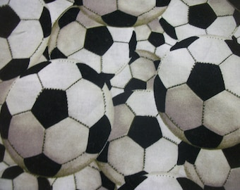 "26"" Long x 44"" Wide Soccer Balls Packed Sports Cotton Fabric Brother Sister Design Studio 2007 Ready To Ship"