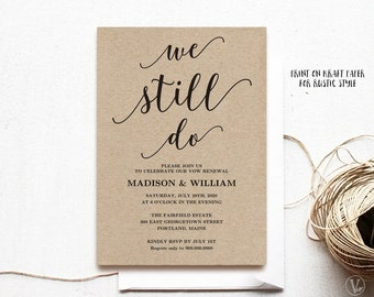 Vow renewal invitation template download we still do vow renewal invitation template printable wedding vow renewal invitation we still do vow stopboris Images