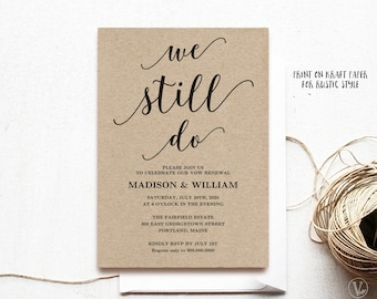 We still do invite vow renewal invitation wedding anniversary vow renewal invitation template printable wedding vow renewal invitation we still do vow renewal invitation modern calligraphy vw10 stopboris