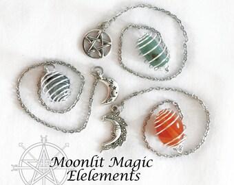 Build Your Own Pendulum/ Natural Stone Pendulum/ Wicca Pagan/ Divination