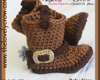 Baby Crochet Pattern  Cowboy Boots