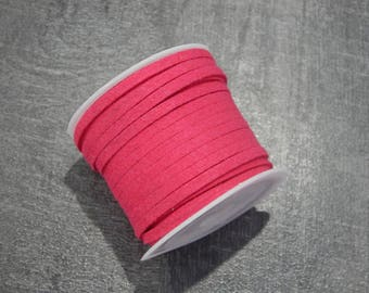 5 m suede 3x1.5mm fuchsia pink
