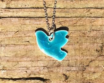 Blue Flying Bird Pendant
