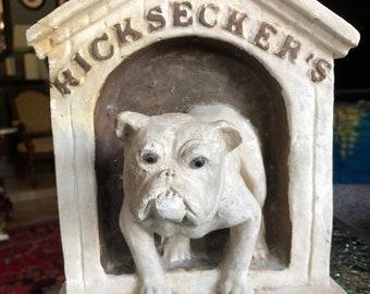 Ricksecker's Dog Soap Chalk Advertising Plaque