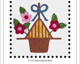 Blossom & Bow Basket appliqué block