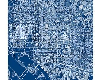 Washington DC Cityscape Art Print  / Graphic City Map Wall Art / 8x10 / Choose your Color