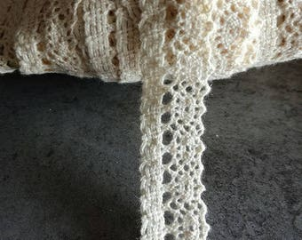 13 mm beige cotton lace