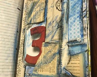 Pre-prepped Art Journal , junk journal, notebook, diary