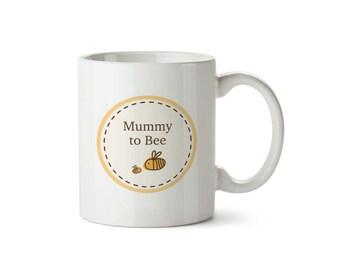 Mummy to Bumble Bee Baby Announcement Ceramic Mug Circle Design