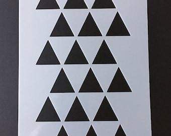 Triangle Furniture Stencil   Retro, Hipster, Modern, Geometric, Aztec, Craft