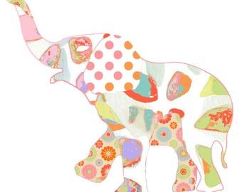 elephant baby animal print, nursery wall art nursery decor, baby girl nursery art, baby wall art, elephant art elephant decor elephant print