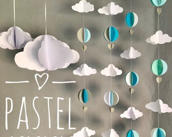 Nursery baby mobile / Hot Air Balloon Mobile / Nursery Decor / Baby Shower/ nursery art / kids room decor
