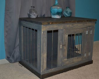 Frontier Dog Kennel Furniture, Custom Dog Crate Furniture, Wooden Dog  Kennel, Indoor Dog