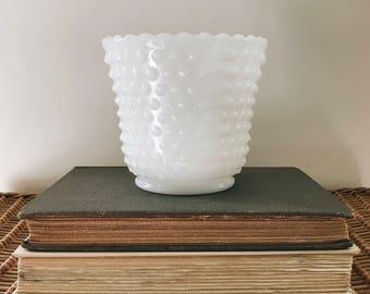 Hobnail Milkglass Vase